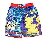 Pokemon Pikachu Boys Swim Trunks Swimwear (Little Kid/Big Kid) (10/12, Red/Royal)
