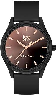 Ice-Watch - Ice Solar Power Sunset Black - Montre Noire pour Femme avec Bracelet en Silicone - 018477 (Small)
