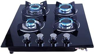 Just Home Gutstark Parrilla de Gas (Natural o LP) Empotrable de Cristal Templado 4 Quemadores Estufa para Cocina Encendido...
