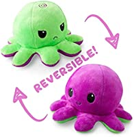The Original Reversible Octopus Plushie | TeeTurtle's Patented Design | Polka Dot and Shimmer | Show Your Mood Without...