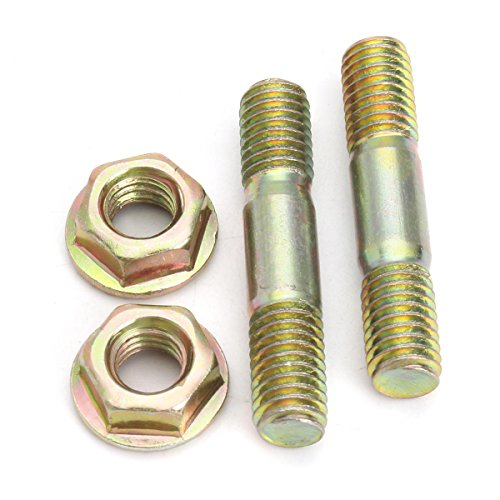 by CHILUVU - 4pcs Bar Nuts Studs Bolt for Baumr-ag Sx62 62cc Chainsaw Chain Saw - Industrial Hardware