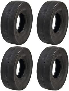 Set of (4) 4.10 x 3.50-5 Tube Type Slicks Go-Kart Go-Cart GoKart Gocart Bar Stool Racer Tires