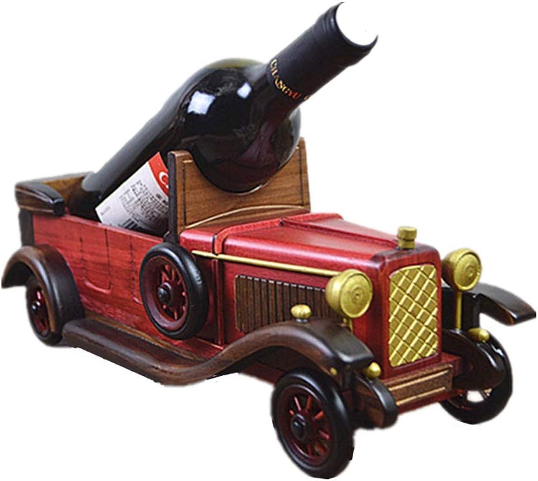 Estante del vino Soporte creativo del soporte del vino Hogar de madera Estantes hechos a mano Europeos Retro Accesorios para el hogar