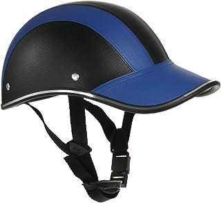 Zwbfu Capacete de motocicleta estilo boné de beisebol de meia face com viseira de sol
