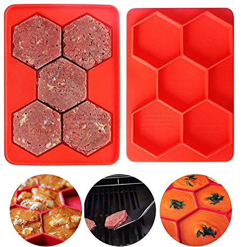 Hamburger master 7 -in-1 Innovative Burger Press, Hamburger Press Patty Maker Sandwich Maker Hamburger Maker Mould Machine, Freezer Container for Breakfast Sandwich Cutlets Grill Kitchen Tools (5in1)