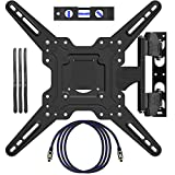 EpeiusMount TV Wall Mount for Most 22'-55' LED LCD Plasma Flat Screen Monitor up to 90 lb VESA 400x400 with Full Motion Swivel Articulating 20 in Extension Arm, HDMI Cable,Cable Ties & Bubble Level