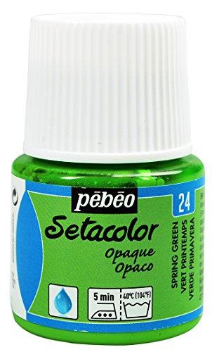 Pébéo 295024 Setacolor Opaque 1 Flacon Vert Printemps 45 ML