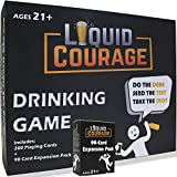 Liquid Courage – Hilarious, Fun Adult Drinking Card Game for Parties | Text - Dare - Drink + Bonus 90 Card Expansion Pack