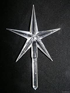 Large Modern Christmas Tree Star 1 CLEAR star size 2-1/2