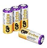 Pilas LR1 - N - E90 - Paquete de 4 Unidades | GP Extra | Duración Larga, Tecnología Anti-Fugas, Rendimiento Elevado