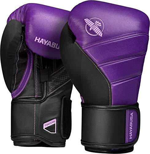 Hayabusa T3 Boxing Gloves for Men and Women - Purple/Black, 14oz