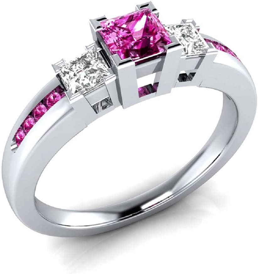 New color 925 Sterling Silver Fashion Natural Square Ruby Ring Pe Sapphire Discount is also underway