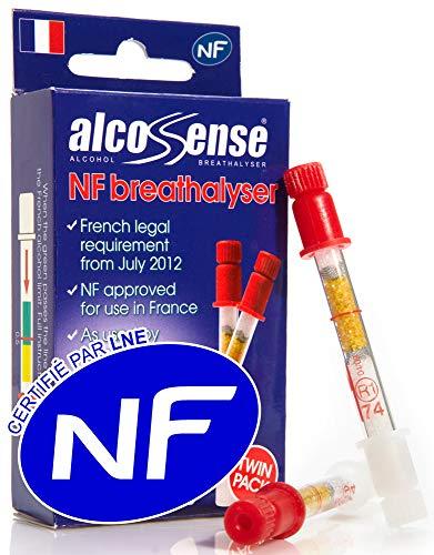 AlcoSense ALCNFTWIN Francés Alcoholímetro, Caja de 2