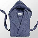 Casabella Uni Sex Bathrobe 100% Cotton Terry Towelling Hooded Bath Robe Dressing Gown