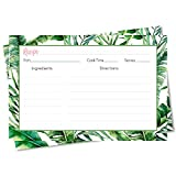 Recipe Cards Tropical Vibes Bridal Shower Tropics Wedding Party Recipe Exchange Card Cookie Swap...
