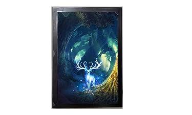 Beautiful Barasingha Wild Animal Nature Digital Reprint with Glass Frame (14x20 Inch)   OyeMart Retail