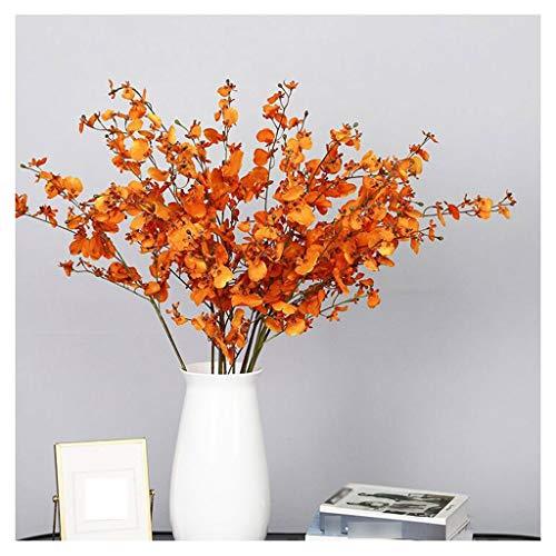 zunruishop Indoor-Zuhause Tanzende Orchidee Simulation Blume High-End-Esstisch Blume Indoor Wohnzimmer Pastoral Stil Seide Blume Dekoration Ornamente Boden Blume (10) Künstliche rote Rosen Blume