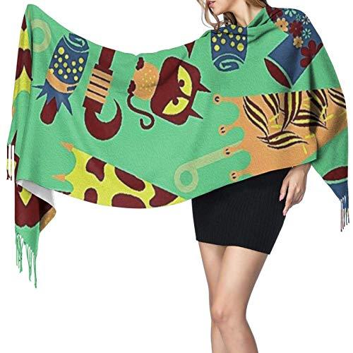 Jingliwang Bufandas Abrigo Chal Turkish Decorative Ceramic Tiles Scarf Women Cashmere Scarves Shawl Wrap Stylish Warm Soft Blanket Large