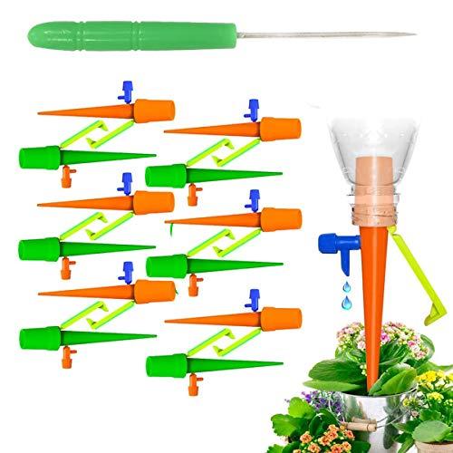 BoloShine Sistema de Riego Automático por Goteo, 12 Pcs Ajustable Piezas Riego por Ggoteo Spike, Práctico Sistema de Irrigación para Bajo Techo, en Exteriores Jardín Bonsáis y Flores