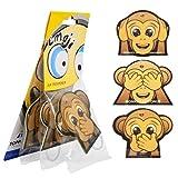 Toppen, deodorante per auto con emoticon Monkey Car Scent, confezione da 3