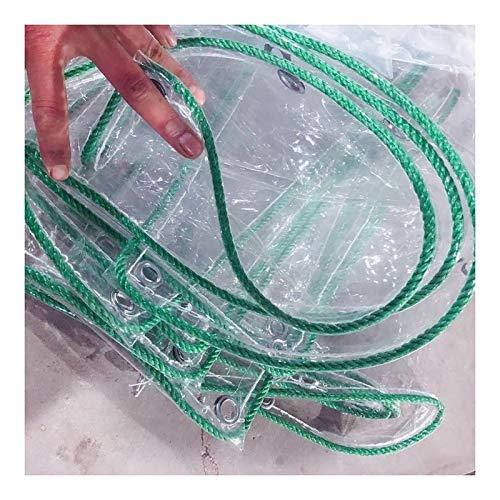 YONGQUAN Claro Lona Tarea Pesada Lona De PVC, De Múltiples Fines Impermeable for Carpas De Camping, Techos Y Protección contra El Clima (Color : Clear, Size : 1M×6M)