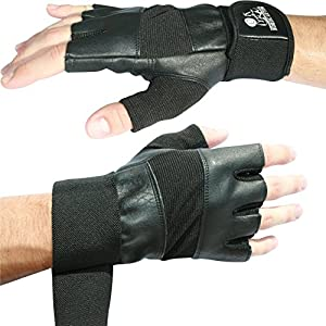 Nordic Lifting Weight Lifting Gloves with 12″ Wrist Wraps Support for Gym Workout, Cross Training, Weightlifting, Fitness & Cross Training – The Best for Men & Women -Quality Gear