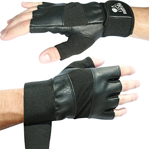 Nordic Lifting Weight Lifting Gloves with 12' Wrist Wraps Support for Gym Workout, Cross Training, Weightlifting, Fitness & Cross Training - The Best for Men & Women -Quality Gear - Large