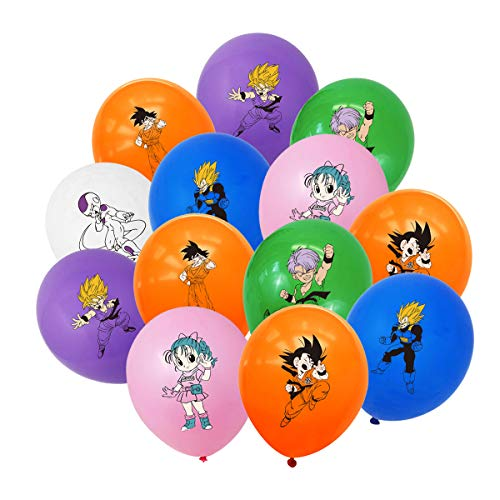 BATTER 35PCS Dragon Ball Z Balloons Party Supplies 12 inch Latex Balloons for Kids Baby Shower Birthday Party Decorations