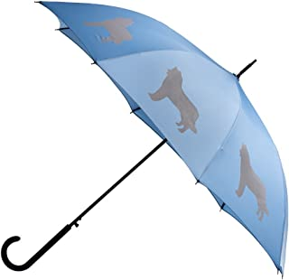 The San Francisco Umbrella Company Unisex-Adult (Luggage only) auto Open Stick rain Umbrella, Blue