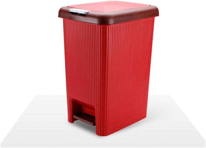 Bote de basura doméstico con tapa Estilo europeo Bote de basura doméstico Uso del bao Ideas con tapa, Prensa de mano Bote de basura de doble uso Salón Cocina Cesto de papel Papel higiénico Barril de
