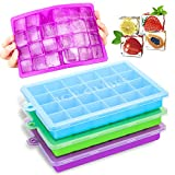 Best Ice Cube Trays - 3 Pack Silicone Ice Cube Trays with Lids,Silica Review