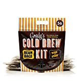 Grady's Cold Brew Coffee Pour & Store Kit, (12) 2oz. Bean Bags, 36 Total Servings, Regular
