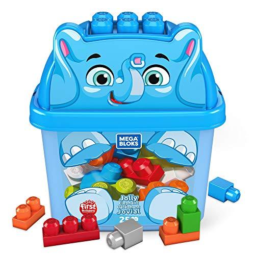 Mega Bloks GPG21 - Mega Bloks Elefant Bausteinbox (25 Teile), Spielzeug ab 1 Jahren