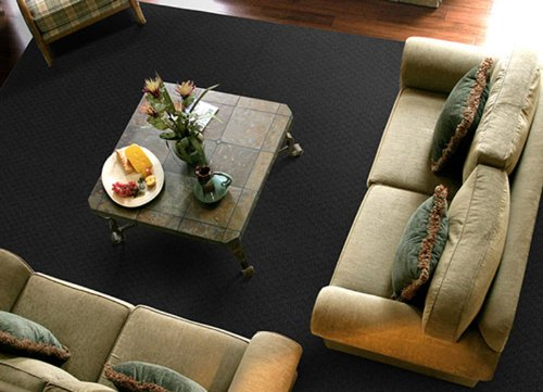 Garland Rug Town Square Area Rug, 7-Feet 6-Inch by 9-Feet 6-Inch, Black