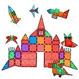 Condis 60 Piezas Bloques de Construcción Magnéticos para Niños, Juguetes Niños de 3 4 5 6 7 8 Años Juegos Magneticos Educativos Viaje Juego de Imanes magneticas para Niños Niñas Montessori Regalos