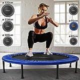 Physionics® Mini Trampolino - Diametro a Scelta (81, 91, 96, 102, 114, 122 cm), Piedini in Gomma Antiscivolo, Portata Massima 100kg - Tappeto Elastico Fitness