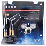 Harris HX-3B Inferno Air-Fuel Kit with Quick Connect Acetylene Hose Connections, HA-3i/HA-11i Inferno Brazing Tips and B Tank Connection (Pack of 1)