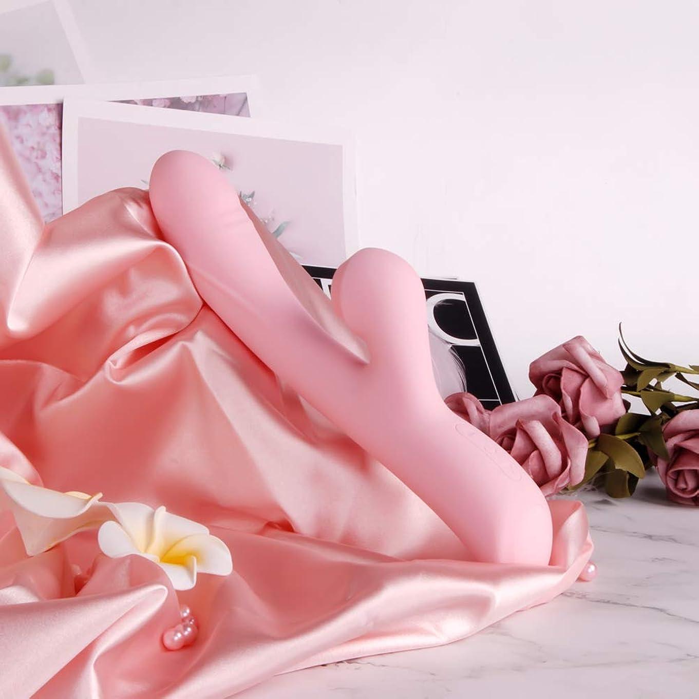 ベルはいライバル脚 マッサージ バイブレーターUSB充電式 AVマジック ワンドバイブレーター マッサージャー 大人のおもちゃ女性用 10スピード電動マッサージ器 42度加熱 自由に曲げられる (ピンク色)