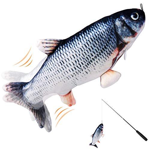 Petisle Floppy Fish Cat Toy - Flopping Fish Toy, Catnip,...