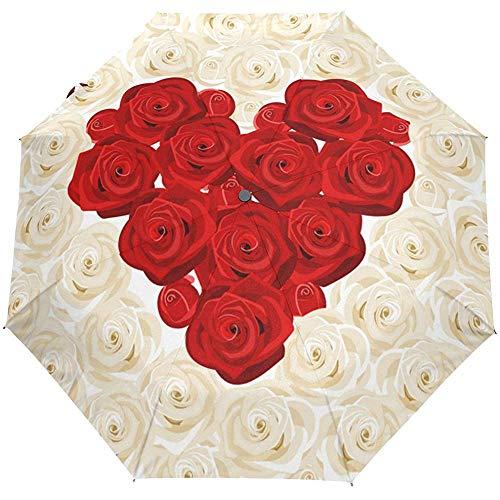 San Valentino Cuore Ti amo Floreale Rose Nozze Auto Apri Chiudi Ombrellone per sole