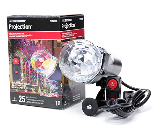LightShow Projection Multi-Function Multicolor LED Kaleidoscope Outdoor Stake Light Projector with 25 Color Combinations