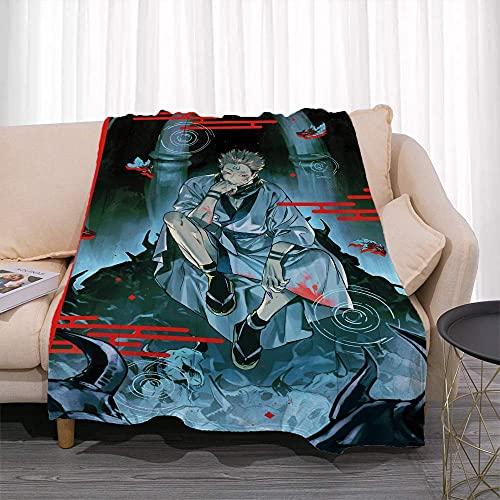 Bradioni Jujutsu Kaisen Series Yuhito Tiger Cane Poster 3D Patrón de impresión anime Manta cálida colcha para ropa de cama de invierno suave y cómodo lavable