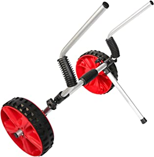 Onefeng Sports Universal Aluminum Sit on Top Kayak Canoe Scupper Cart Dinghy Cart Dolly Wagon Carrier Trolley Wheels