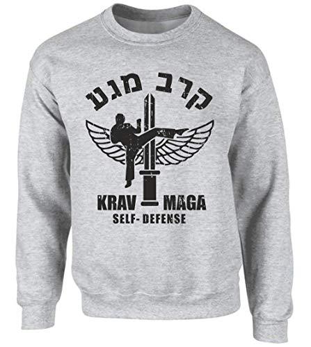 Krav MAGA - Sudadera deportiva ASH, talla gris S