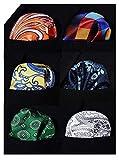 HISDERN 6 pezzi assortito Pattern di stampa Uomo Pocket Square Fazzoletto Festa di matrimonio Regalo