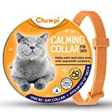 CHUWPI Cats Calming Collar - [2021 New Version] - Cat Calm Products, Pheromones for Cats, Anxiety Relief Fits Small Medium and Large Cats - Adjustable and Waterproof