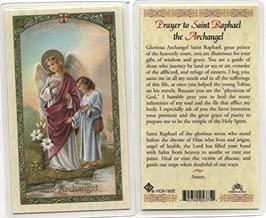 Prayer to St. Raphael the Archangel Holy Card (HC9-182E) - Laminated