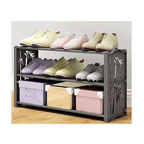 JIADUOBAO Zapatero simple para habitación compartida, a prueba de polvo, zapatero de plástico (tamaño: 60 x 19 x 35 cm) (color: forma de bambú)