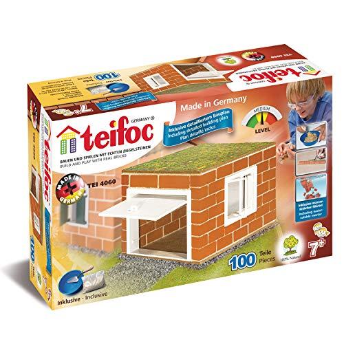 Teifoc T4060 TEI 4060 Bausatz Garage mit echten Ziegeln, Kit