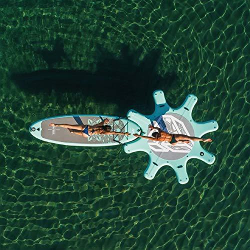 Blcnk Chi Aufblasbare Entspannungsinsel, Brise Floating Island Floß, riesiger aufblasbarer Pool Float für Erwachsene, ideal für Pool, See, Rive - aufblasbare Yoga-Matte 114